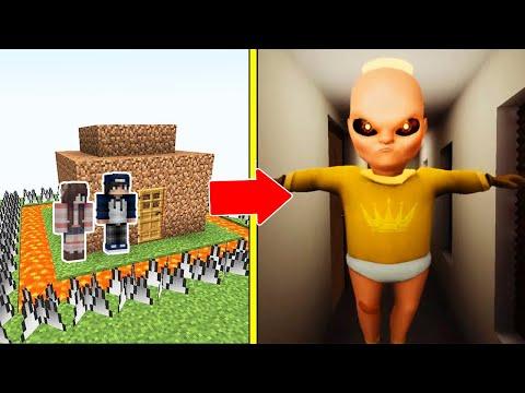 THE BABY IN YELLOW Tấn Công Nhà Được Bảo Vệ Bởi bqThanh và Ốc Trong Minecraft