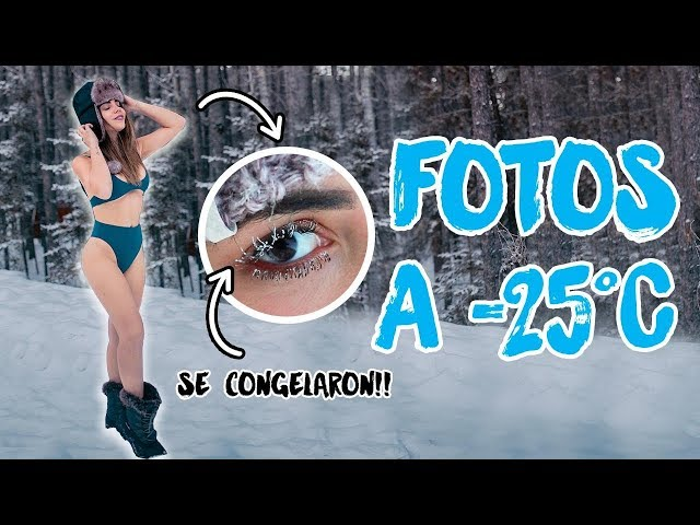 HACIENDO FOTOS TUMBLR A -25°C ❄️| What The Chic
