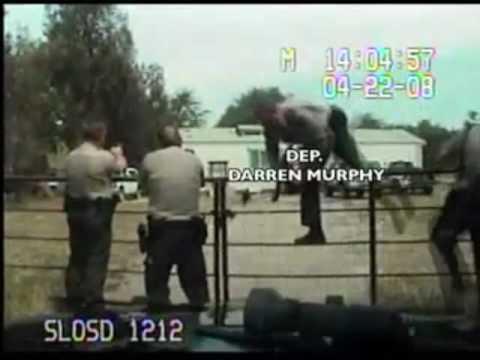 Slo County Sheriff's deputies violate 4th amendment rights of Matt Hart KCCN.tv Part 1