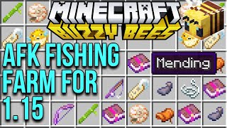 Minecraft 1.15 AFK Fishing Farm Tutorial For The Buzzy Bees Update