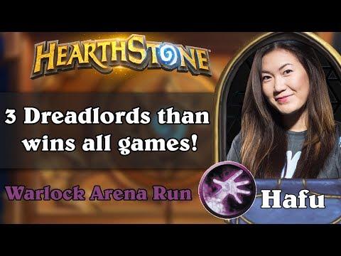 Hafu Warlock Arena Run. 3 Dreadlords than wins all games!