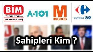 Türkiyede ki en popüler 7 market ve sahibi (Toplist) Bim, A.101, Migros,Carrefour sa, kipa, makro