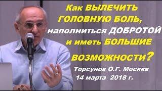 Как ВЫЛЕЧИТЬ ГОЛОВНУЮ БОЛЬ, наполниться ДОБРОТОЙ и иметь БОЛЬШИЕ ВОЗМОЖНОСТИ? Торсунов О.Г. Москва
