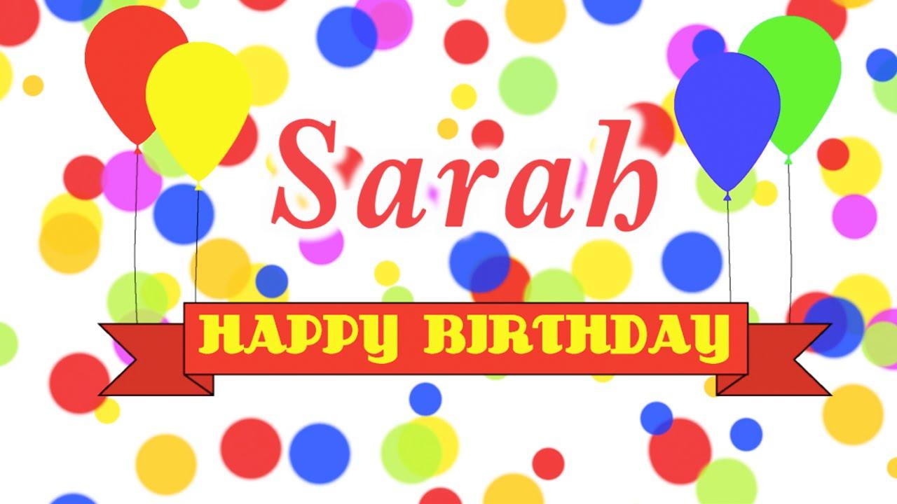 Happy Birthday Sarah