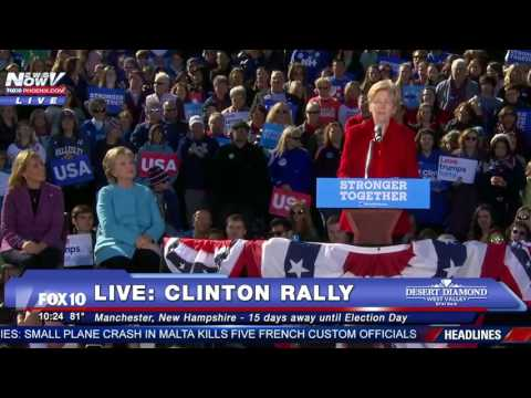 FULL: Hillary Clinton and Elizabeth Warren Speech In Manchester, New Hampshire