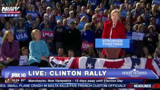 FULL: Hillary Clinton and Elizabeth Warren Speech In Manchester, New Hampshire