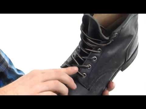 frye logan cap toe black