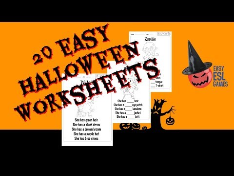 Extra Materials For The The Amazing Halloween Resource Pack  | Easy ESL Games