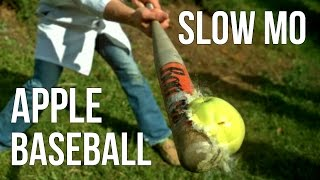 APPLE BASEBALL GAME In Slow Motion