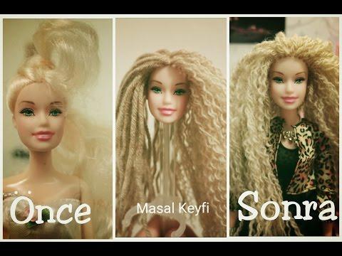 Barbie Saç Yapımı ( Saç Dikme- İpten Saç Yapma ) - DIY - Kendin Yap // Masal Keyfi