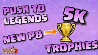 PUSH TO LEGENDS EP.8!! BREAKING MY PERSONAL BEST!! |Clash of Clans