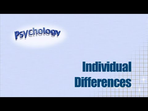 AS Psychology Revision: Individual Differences