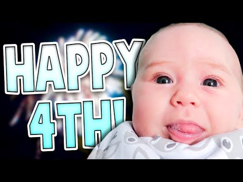 Her First 4th of July!   Family Baby Vlogs