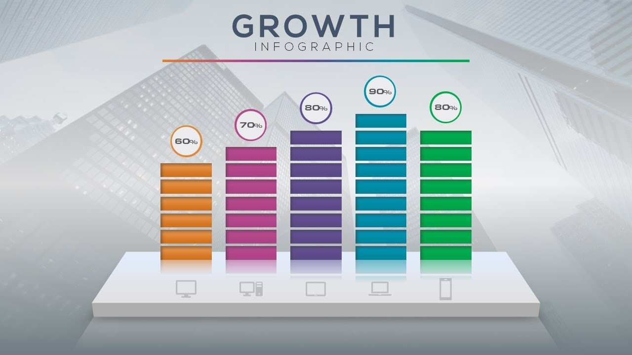 How To Create An Inspirational Growth Chart For Presentation In Microsoft Office Powerpoint Ppt Youtube
