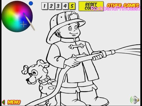 firefighter coloring pages for kids firefighter coloring pages - Firefighter Coloring Book