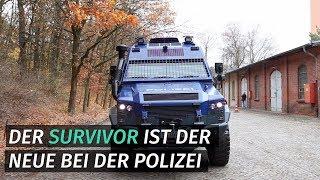 Survivor R: Berliner Polizei stellt Spezialfahrzeug vor