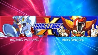 [BOSS FIGHT] X Challenge - Blizzard Wolfang and Burn Dinorex