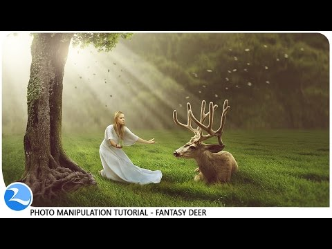 Making Dramatic Lights Fantasy Deer Photo Manipulation Photoshop Tutorial