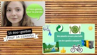 15 eco gestes pour la planète !