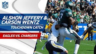 Strip Sack on Philip Rivers Sets Up Carson Wentz's Laser TD Pass! | Eagles vs. Chargers | NFL Wk 4