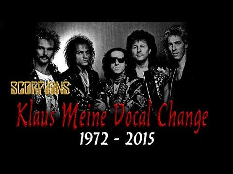 Klaus Meine (Scorpions) Vocals Change (1972 - 2015)