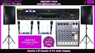Complete Karaoke System, Best Karaoke Player, Karaoke Mixer, Karaoke Speakers, USB, Bluetooth, ✅