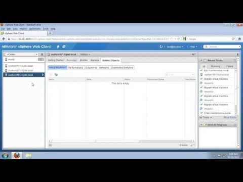 Enable Host Maintenance Mode for VMware vSphere (vSOM)