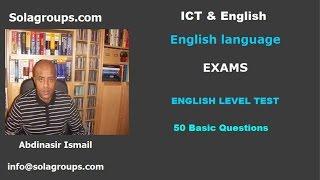 English Language Level Test Exams