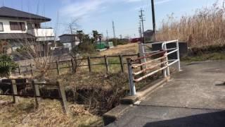 旧名鉄竹鼻線 大須駅跡と羽島市コミュニティーバスのりば