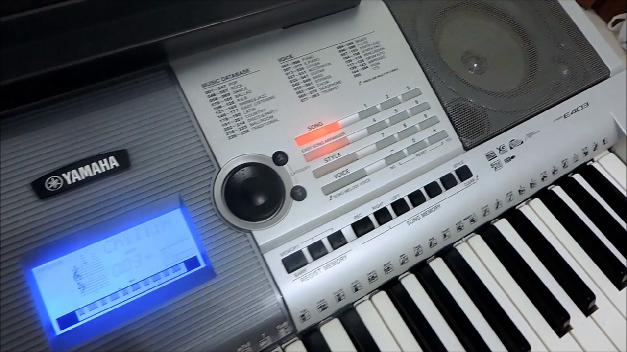 YAMAHA PSR E403 MIDI DOWNLOAD DRIVERS