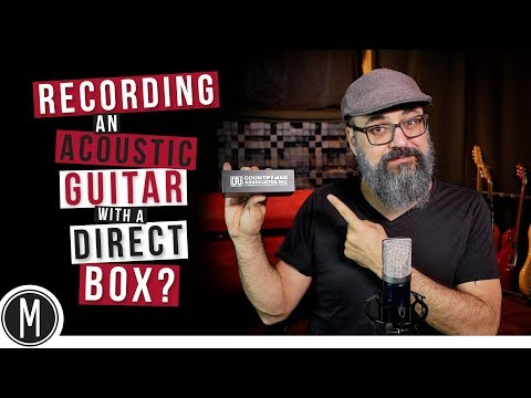 RECORDING an Acoustic Guitar with a DIRECT BOX ? - mixdown.online