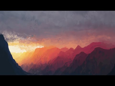 Landscape Sunset digital painting (time-lapse video) ArtRage 5
