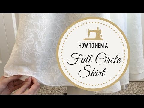 hemming-a-full-circle-skirt:-lace-bridal-gown