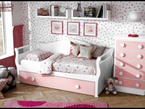 Dormitorios infantiles blancos y rosas youtube - Dormitorios infantiles blancos ...