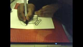 how to draw a gas mask charecter