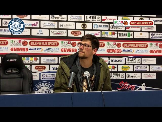 Lorenzo Molinaro nel dopo partita con Piacenza