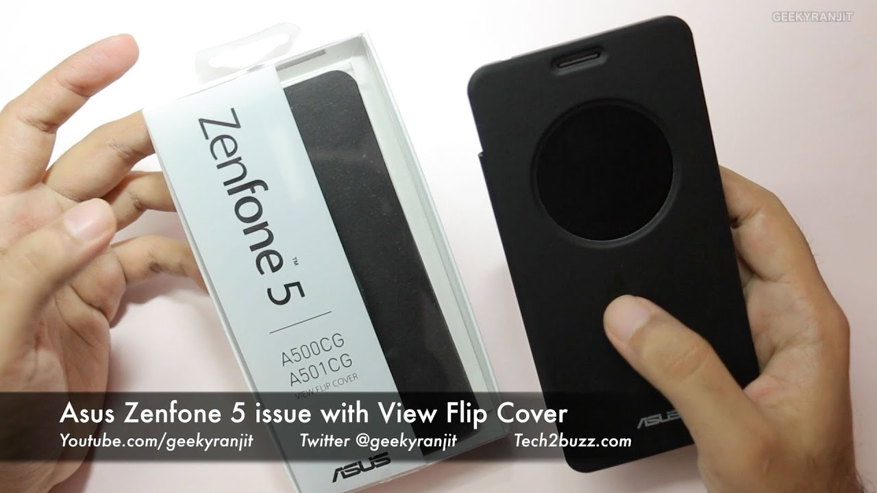 Asus Zenfone 2 Circle View Window File Flip Cover Hands on Review .