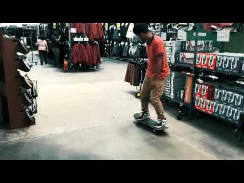 Skateboarding inside a Bangalore Store