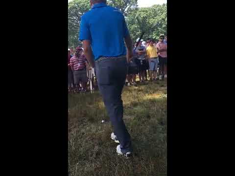 Yelled at by Marshal, Jordan Spieth up close at the 2016 PGA Championship