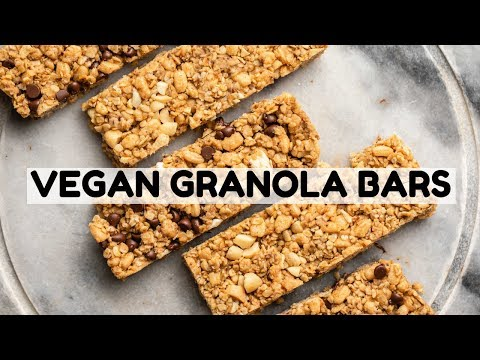 Homemade VEGAN Chewy Granola Bars (3 Ways!)