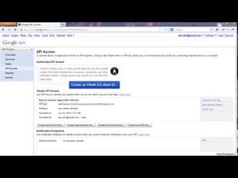 Get API Key for Google Plus Application