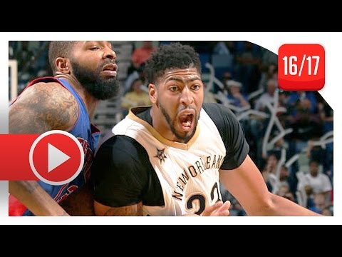 Anthony Davis Full Highlights vs Pistons...