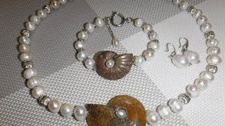 Коллекция украшений № 7. Жемчуг. Jewellery made of natural stones. Necklaces, bracelets.