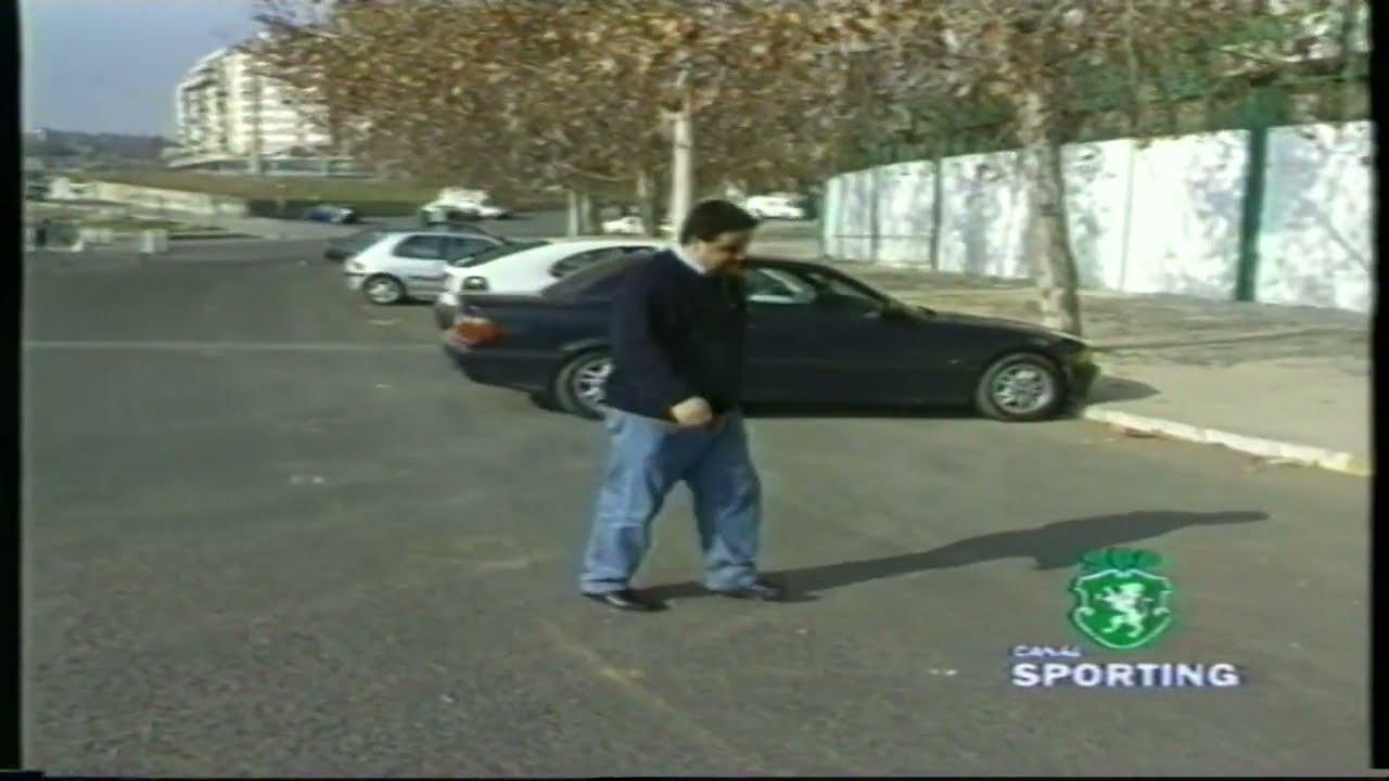 Tiago (Sporting) e Fernando Mendes (Actor) em Dezembro de 1998
