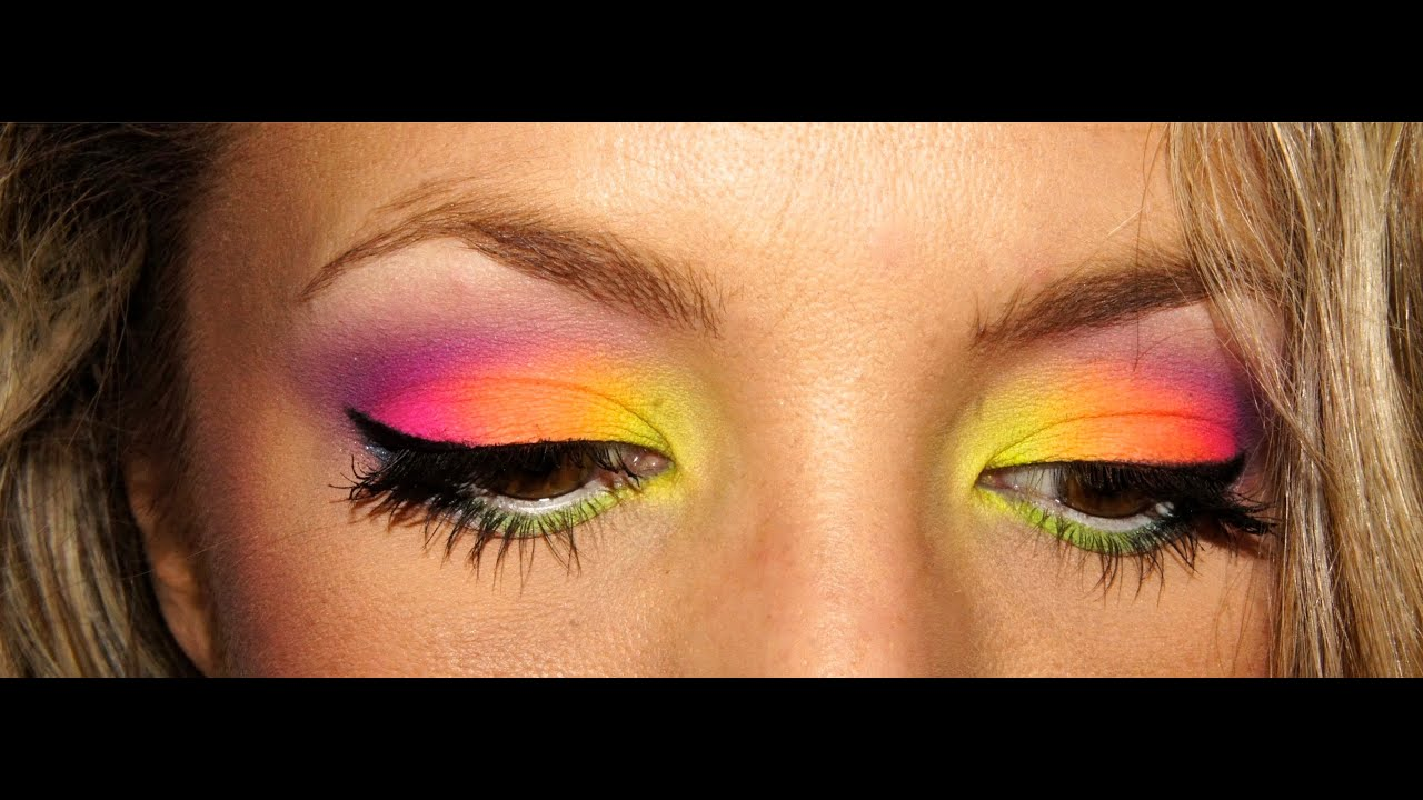 maquillage fluo again avec acid palette i clairette sweety youtube. Black Bedroom Furniture Sets. Home Design Ideas
