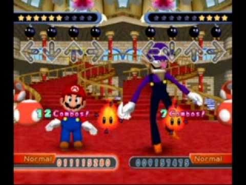 Dance Dance Revolution Mario Mix Story Mode - Waluigi Battle (Normal)