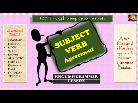 120 Tricky Examples of Subject Verb Agreement (English Grammar Lesson)