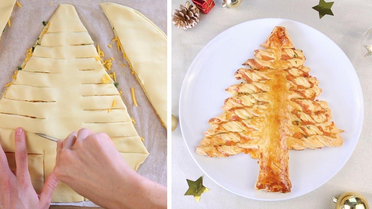 Rezept Tannenbaum.Schnell Gemacht Tannenbaum Aus Blätterteig Mit Käsefüllung