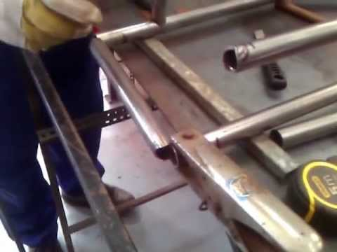 Preparando para soldar chasis - YouTube