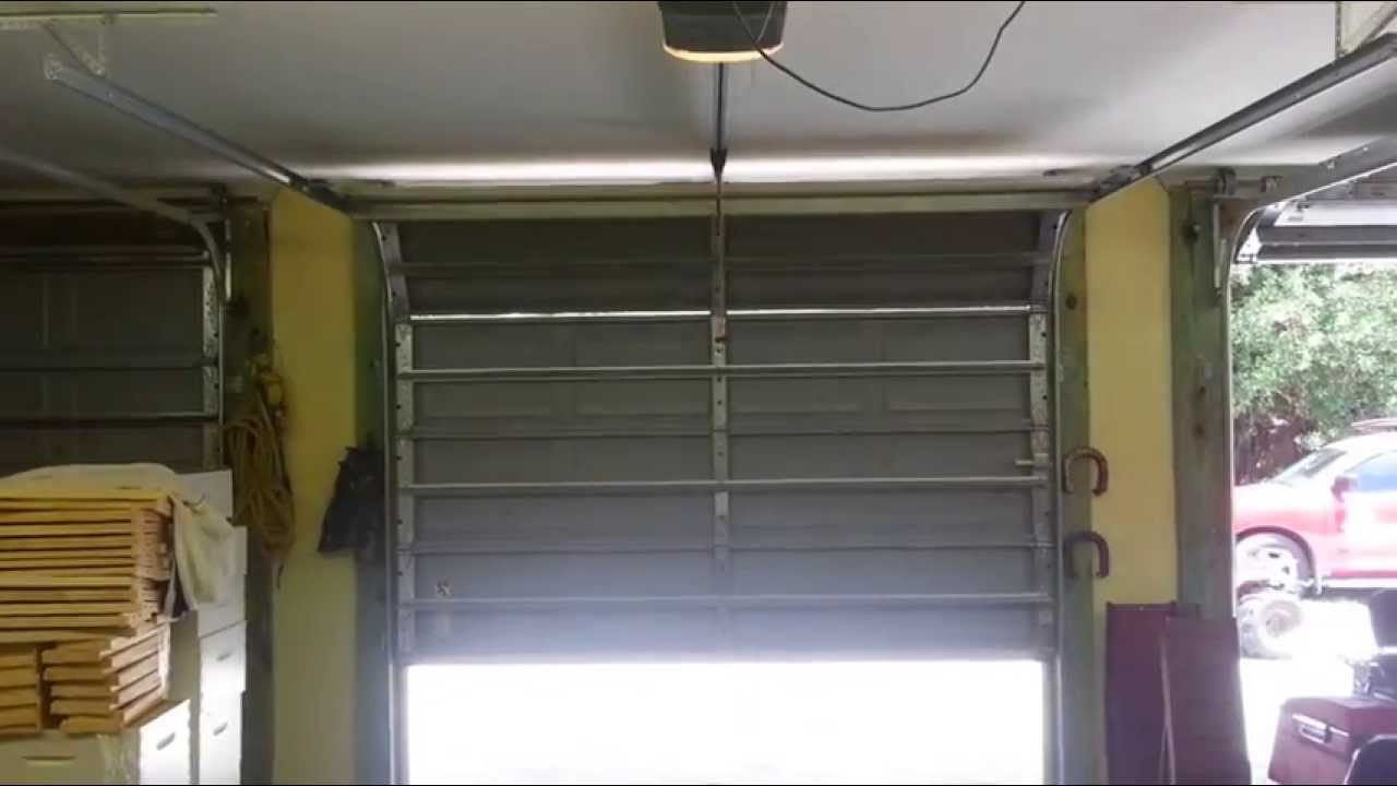 Chamberlain Liftmaster Craftsman Garage Door Wont Close Youtube